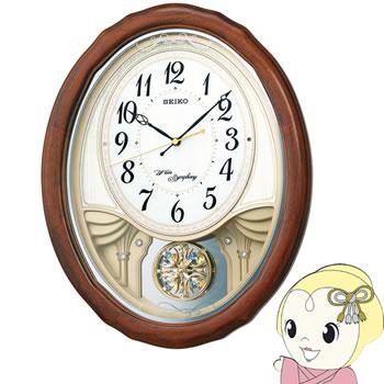 セイコークロック アミューズ木枠電波掛時計 AM257B【smtb-k】【ky】【KK9N0D18P】
