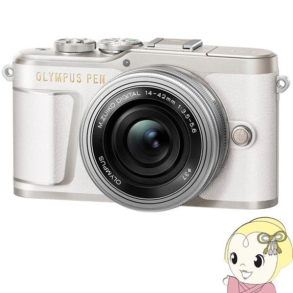 オリンパス ミラーレス一眼カメラ OLYMPUS PEN E-PL9 14-42mm EZレンズキット [ホワイト]【smtb-k】【ky】【KK9N0D18P】