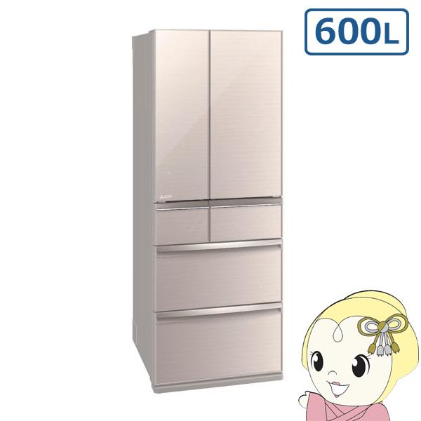【設置込】MR-WX60D-F 三菱電機 6ドア冷蔵庫600L WXシリーズ クリスタルフローラル【smtb-k】【ky】【KK9N0D18P】