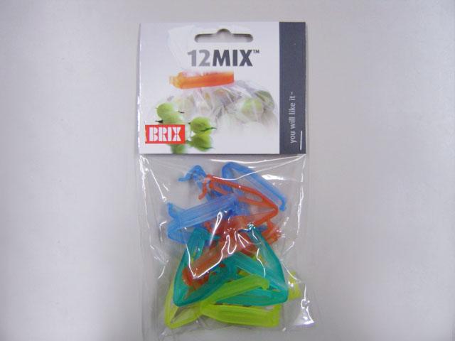 とっても小さい袋クリップ BrixDesignバッグクロージャー12MIX 市場 12個入 ギフト