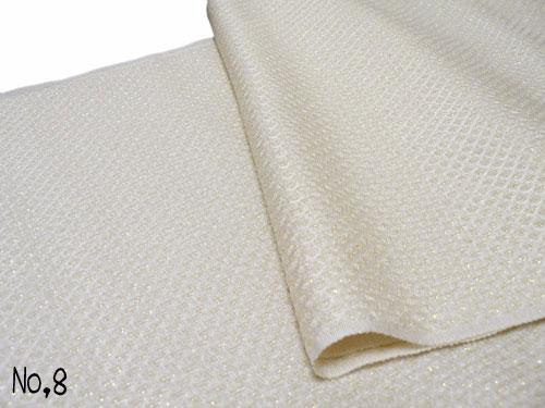 【振袖用】正絹 帯揚げ 鹿の子織り金ラメ入り 帯揚げ NO.8  白色【メール便可】