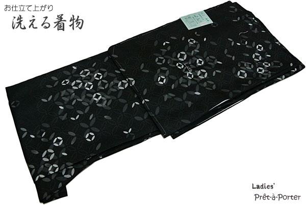 洗える着物 小紋 きもの 江戸小紋 01お仕立て上がりきもの 出来上がり きものプレタ きもの ポリエステル袷仕立て 袷きもの