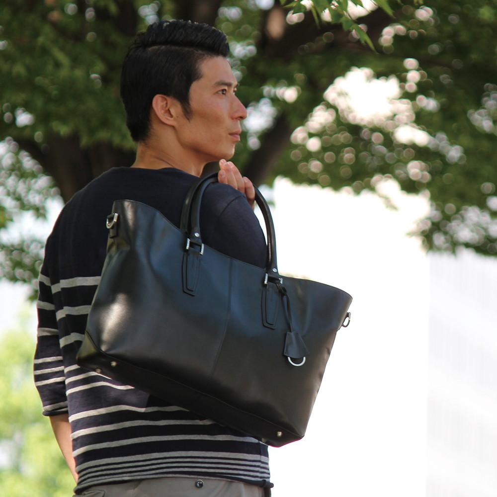 ビジネスバッグ 本革 レザー トートバッグ メンズ ビジネス トート 牛革 通勤 トートバック  シンプル 鞄 A4 大きめ B4 PCホルダー 大判  たっぷり収納できる大容量 スマート フォルム GOLDMEN  GA203