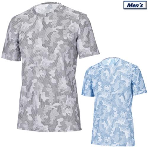 SALE 汗のべと付き解消Tシャツ アプルラインド applerind カモ柄クルーネックTシャツ 高級品 メンズアンダーウエア Crew-Neck T-Shirt 全2色 Underwear M-XL JS1154 2019春夏 特別セール品 All Mesh