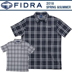 フィドラ FIDRA 吸汗速乾機能先染めチェック柄半袖ポロシャツ 2018春夏 メンズ 全2色 M-XL FDA0315
