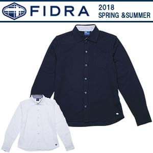 フィドラ FIDRA 鹿の子フルボタン長袖シャツ 2018春夏 メンズ 全2色 M-XL FDA0321