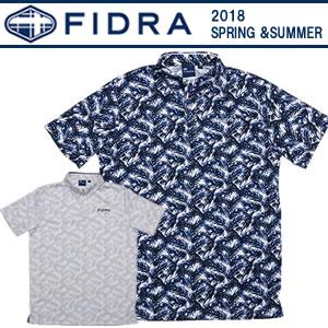 フィドラ FIDRA ボタニカル柄プリントボタンダウンシャツ 2018春夏 メンズ 全2色 M-XL FDA0328