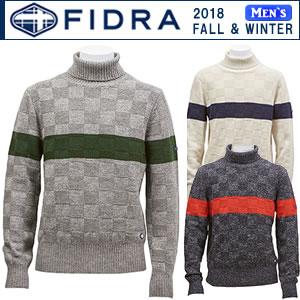 フィドラ FIDRA 裏付き防風タートルネックセーター メンズ 全3色 M-XL fi38tj12