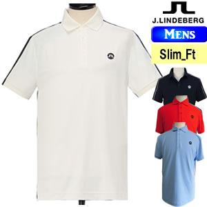 ジェイリンドバーグ J.LINDEBERG リバース3D切替アイコニック半袖ポロシャツ メンズ 2018モデル 全4色(柄・無地) S-L(スリムーフィット) 071-27446
