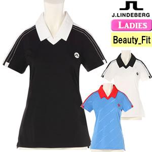ジェイリンドバーグ J.LINDEBERG スキッパー半袖ポロシャツ レディース 2018モデル 全3色 XS-L(ビューティ-フィット) 072-27340