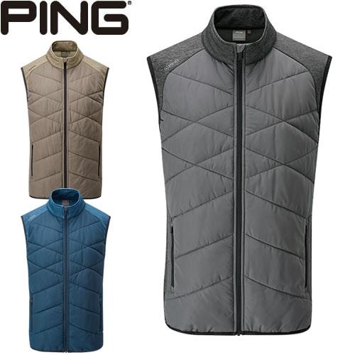 ピン PING ゴルフウェア キルティングブレーカーベスト BREAKER VEST 2019秋冬 メンズ 全3色 S-XL P03379