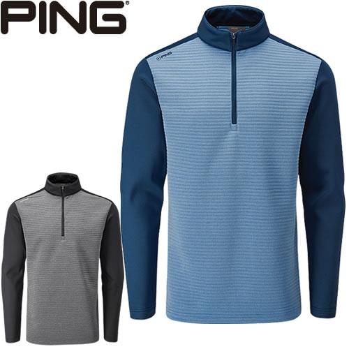 ピン PING ゴルフウェア ニットフリースハーフジップジャケット PHASER 2019秋冬 メンズ 全2色 S-XL P03380