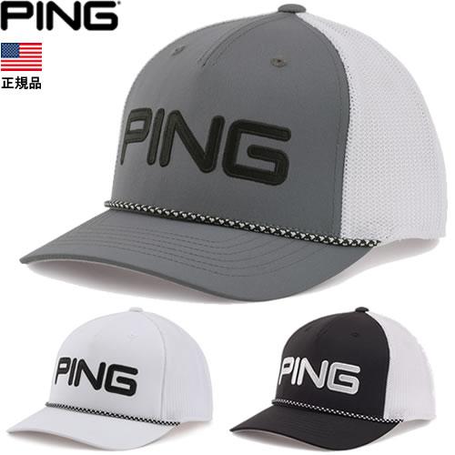 メッシュロープとPINGロゴがデザインポイント US正規品 ピン PING Rope 34691 ロープメッシュキャップ Mesh CAP セットアップ 帽子 送料無料/新品
