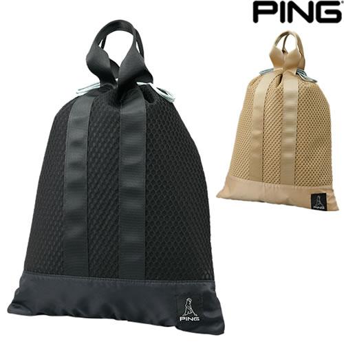 通気性の良いシューズバッグ ピン PING ユーティリティメッシュポーチ 上等 巾着型 MESH 35529 POUCH ファッション通販 GB-U214
