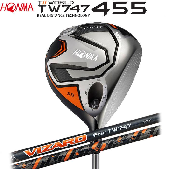 【4/16 01:59までポイントアップ!】ホンマゴルフ HONMA TOUR WORLD TW747 455 ドライバー VIZARD For TW747