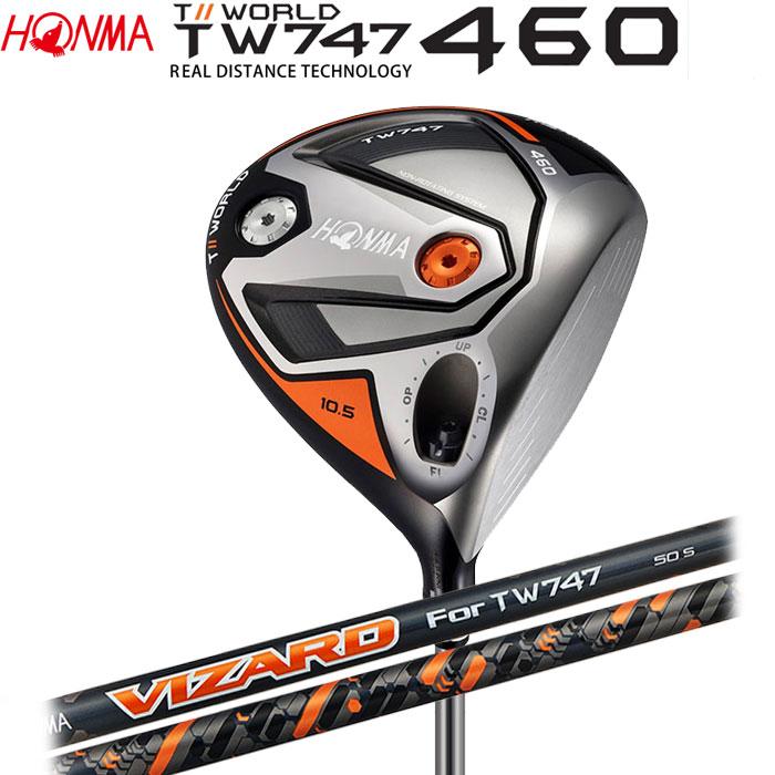【4/16 01:59までポイントアップ!】ホンマゴルフ HONMA TOUR WORLD TW747 460 ドライバー VIZARD FD