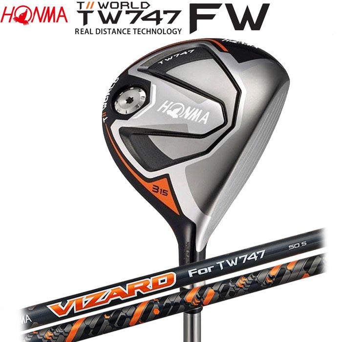 【4/16 01:59までポイントアップ!】ホンマゴルフ HONMA TOUR WORLD TW747 FW フェアウェイウッド VIZARD For TW747