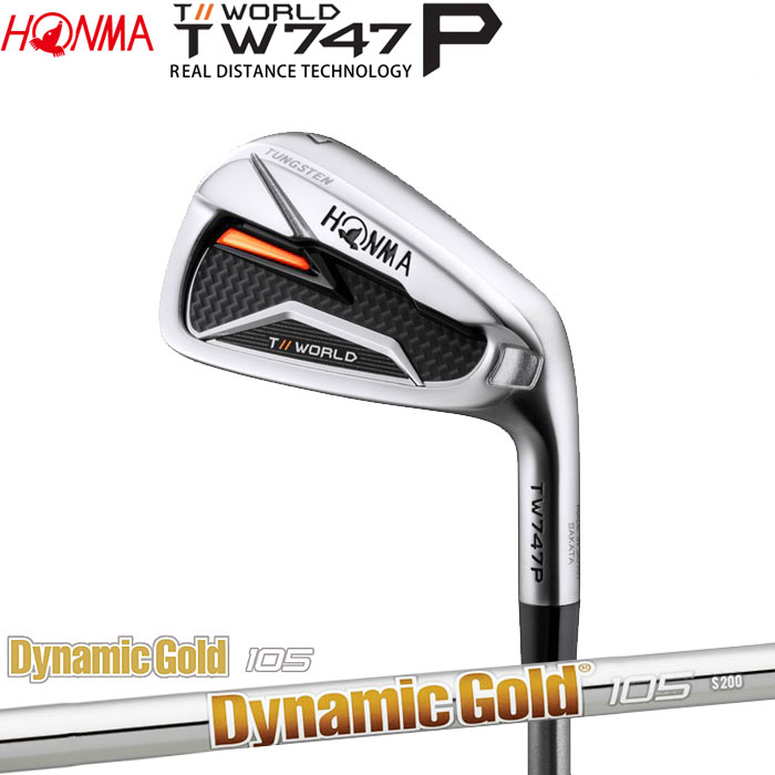 【4/16 01:59までポイントアップ!】ホンマゴルフ HONMA TOUR WORLD TW747 P アイアン Dynamic Gold 105 5~10 (6本セット)
