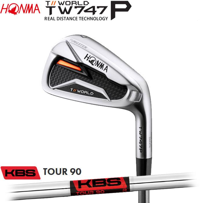 ホンマゴルフ HONMA TOUR WORLD TW747 P アイアン KBS TOUR90 単品 1本