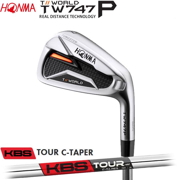 【4/16 01:59までポイントアップ!】ホンマゴルフ HONMA TOUR WORLD TW747 P アイアン KBS TOUR C-TAPER 単品 1本