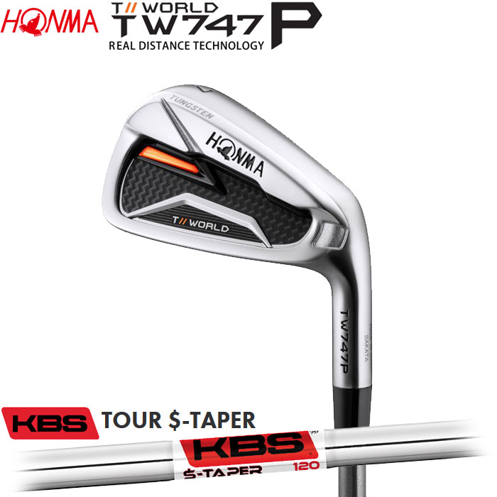 ホンマゴルフ HONMA TOUR WORLD TW747 P アイアン KBS TOUR S-TAPER 単品 1本