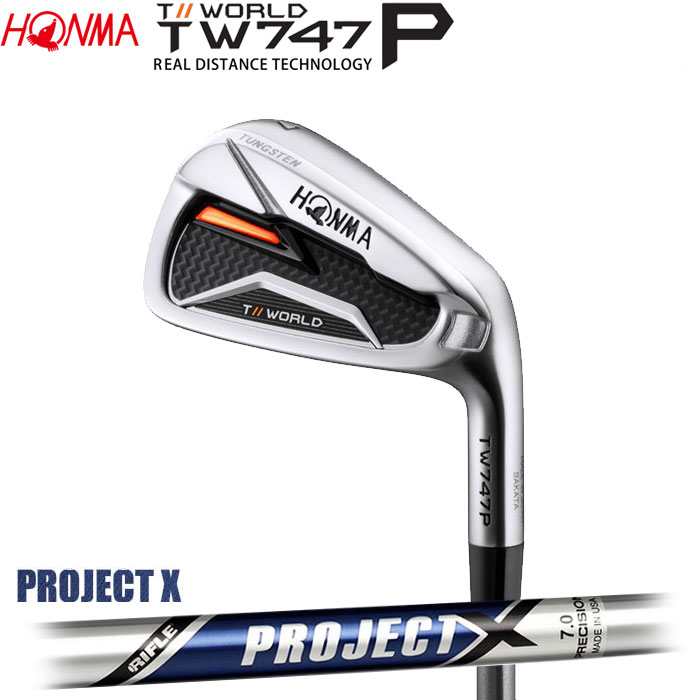 ホンマゴルフ HONMA TOUR WORLD TW747 P アイアン PROJECT X 5~10 (6本セット)(予約受付中11月16日発売)