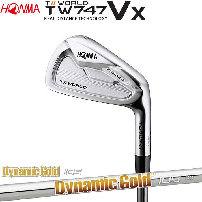 ホンマゴルフ HONMA TOUR WORLD TW747 VX アイアン Dynamic Gold 105 5~10 (6本セット)