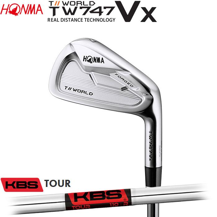 ホンマゴルフ HONMA TOUR WORLD TW747 VX アイアン KBS TOUR 単品 1本