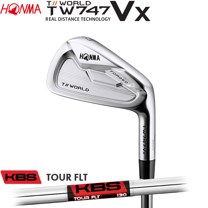 ホンマゴルフ HONMA TOUR WORLD TW747 VX アイアン KBS TOUR FLT 5~10 (6本セット)