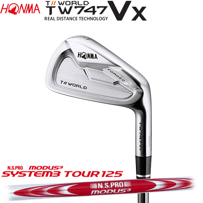 ホンマゴルフ HONMA TOUR WORLD TW747 VX アイアン N.S.PRO MODUS3 TOUR 125 単品 1本
