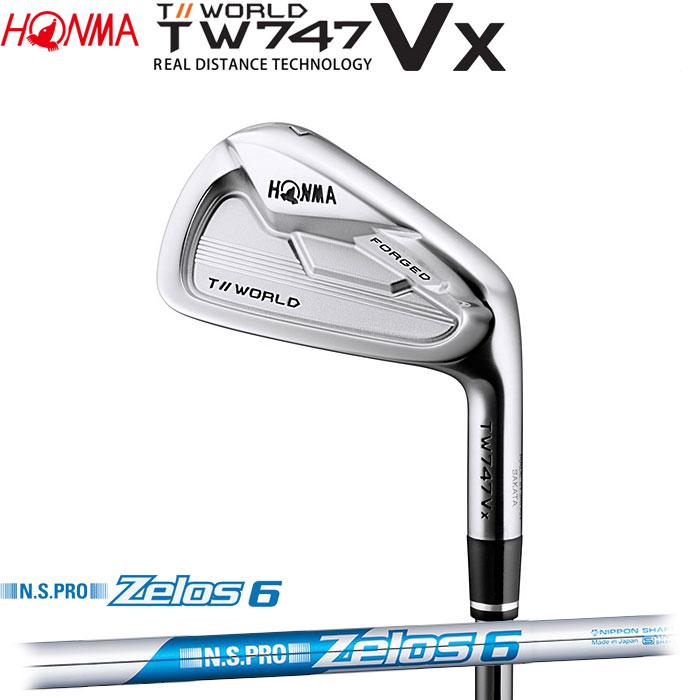 ホンマゴルフ HONMA TOUR WORLD TW747 VX アイアン N.S.PRO ZELOS 6 単品 1本