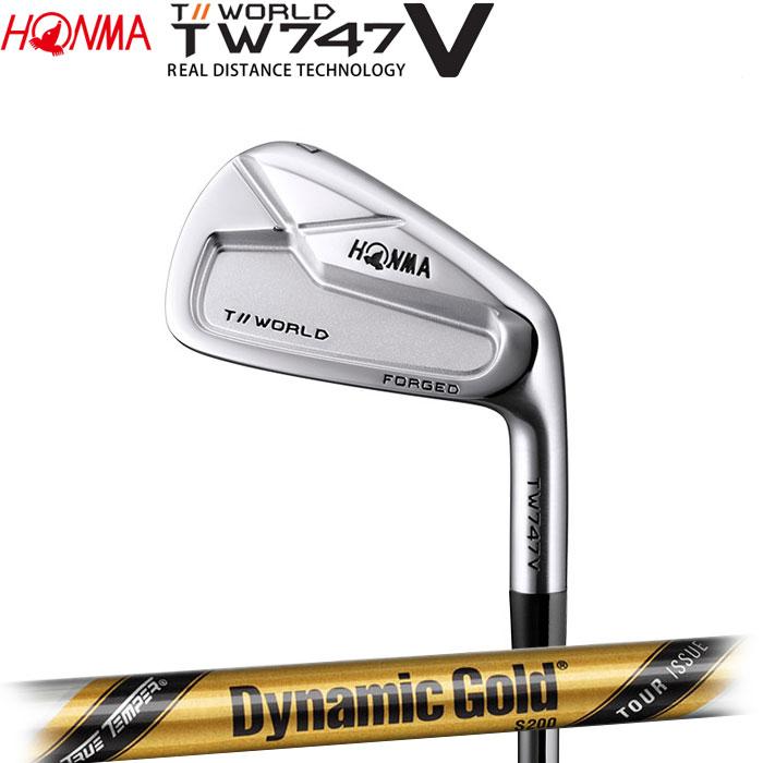【4/8 09:59までポイントアップ中!】ホンマゴルフ HONMA TOUR WORLD TW747 V アイアン Dynamic Gold TOUR ISSUE 単品 1本