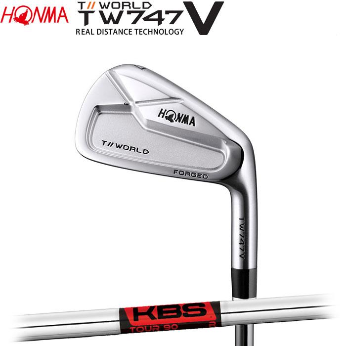 ホンマゴルフ HONMA TOUR WORLD TW747 V アイアン KBS TOUR90 単品 1本