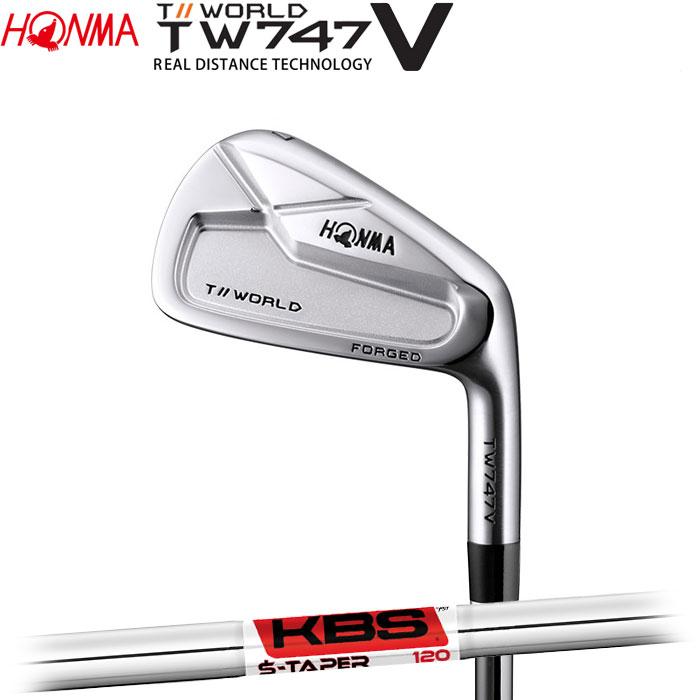 ホンマゴルフ HONMA TOUR WORLD TW747 V アイアン KBS TOUR S-TAPER 5~10 (6本セット)