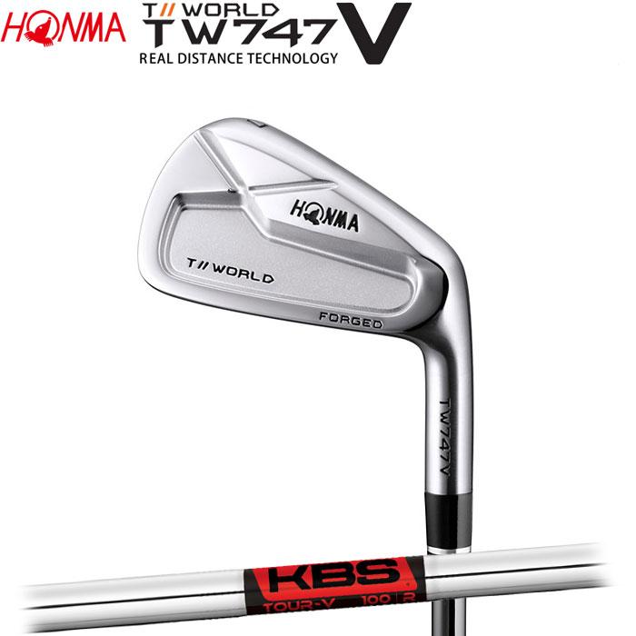 【4/16 01:59までポイントアップ!】ホンマゴルフ HONMA TOUR WORLD TW747 V アイアン KBS TOUR-V 単品 1本