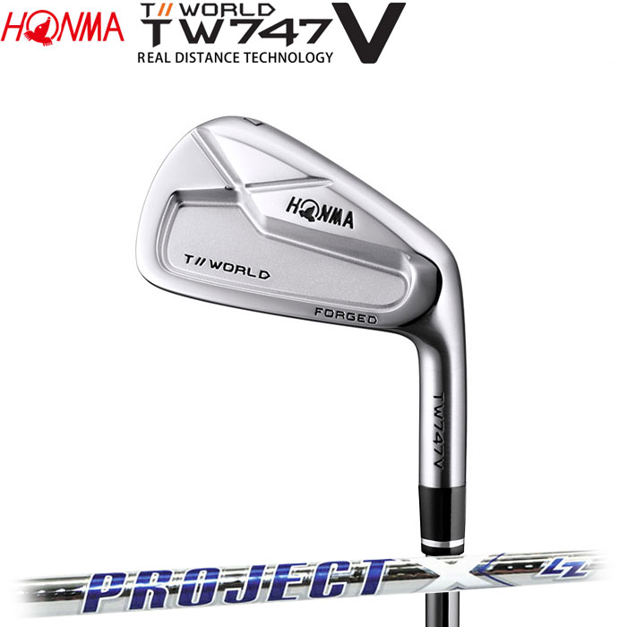 【4/16 01:59までポイントアップ!】ホンマゴルフ HONMA TOUR WORLD TW747 V アイアン PROJECT X LZ 単品 1本
