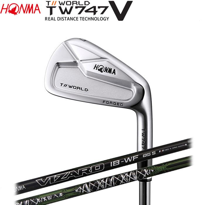 【4/16 01:59までポイントアップ!】ホンマゴルフ HONMA TOUR WORLD TW747 V アイアン VIZARD IB-WF 単品 1本