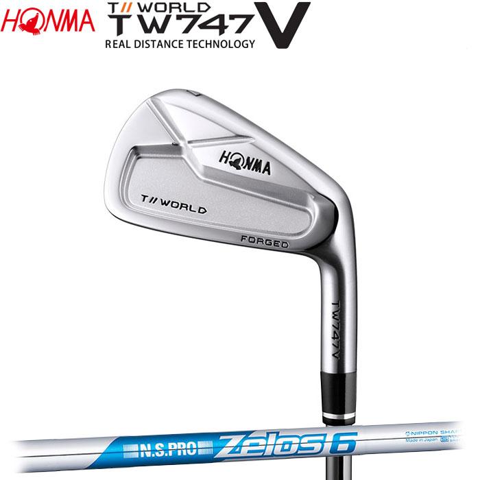 【4/16 01:59までポイントアップ!】ホンマゴルフ HONMA TOUR WORLD TW747 V アイアン N.S.PRO ZELOS 6 5~10 (6本セット)