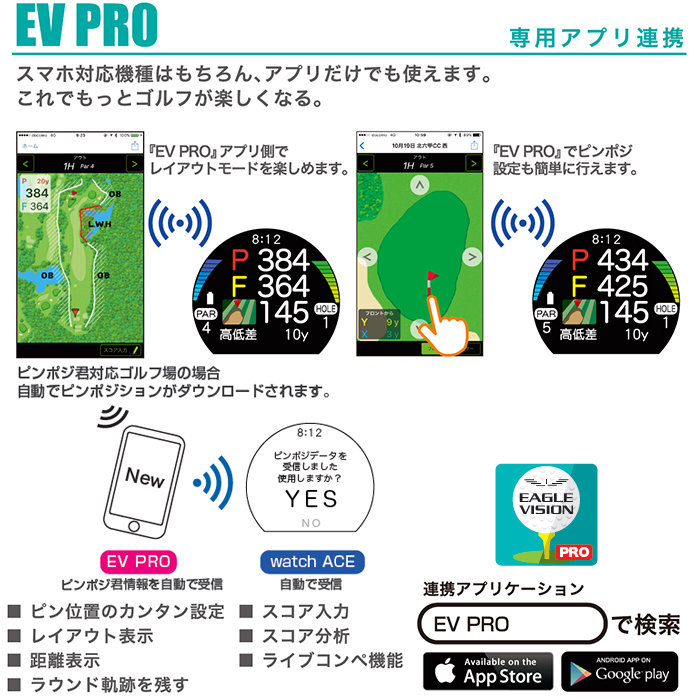 Eagle vision EV-933 Watch ACE watch type GPS golf navigator EAGLE VISION  watch ace morning sun golf article