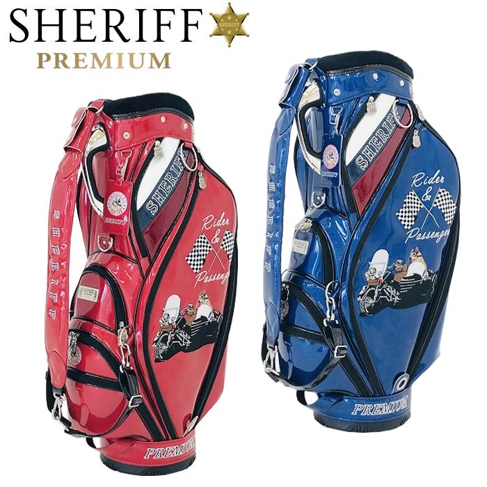 シェリフ ゴルフ SHERIFF SP-005 アメリカンシリーズ プレミアムキャディバッグ 9.5インチ