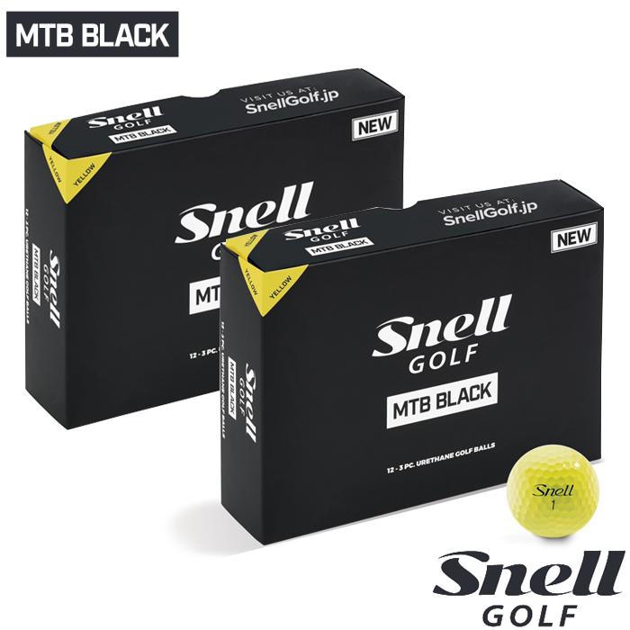 スネルゴルフ 2019 SNELL GOLF NEW MTB BLACK ボール イエロー 2ダース 24球