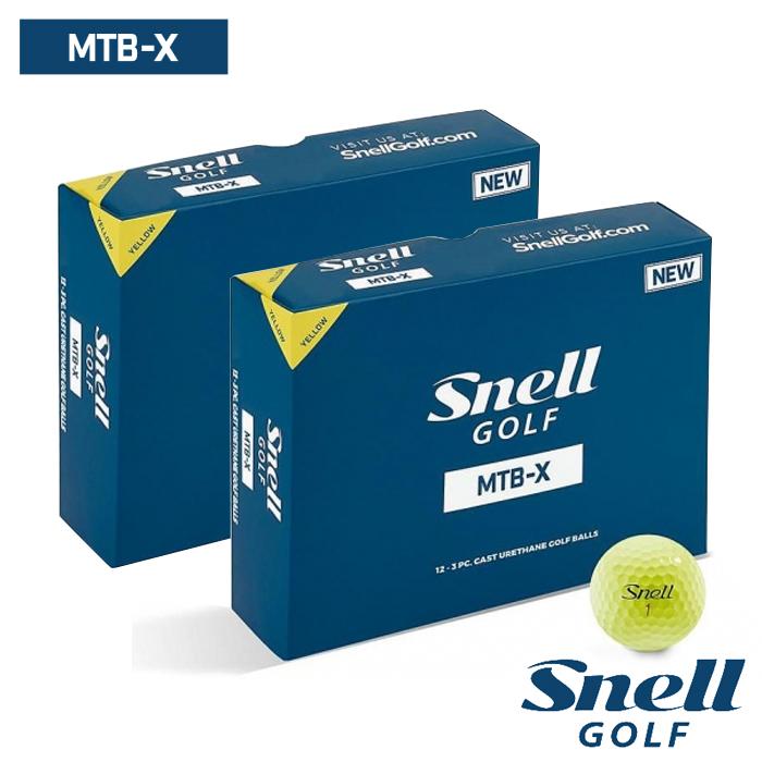 スネルゴルフ SNELL GOLF MTB-X イエロー ボール 2ダース 24球 Snell