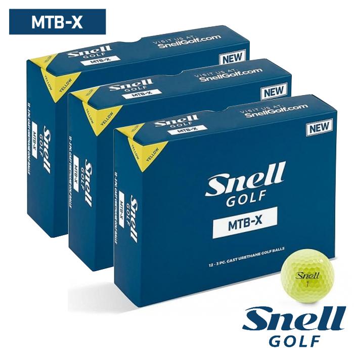 スネルゴルフ SNELL GOLF MTB-X イエロー ボール 3ダース 36球 Snell