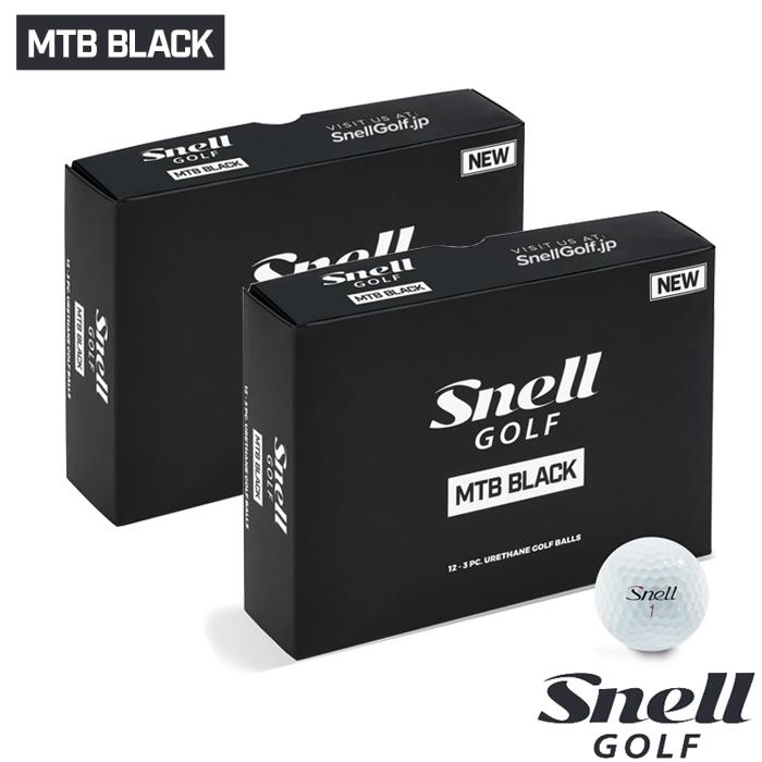 スネルゴルフ SNELL GOLF 2019 NEW MTB BLACK ボール ホワイト 2ダース 24球