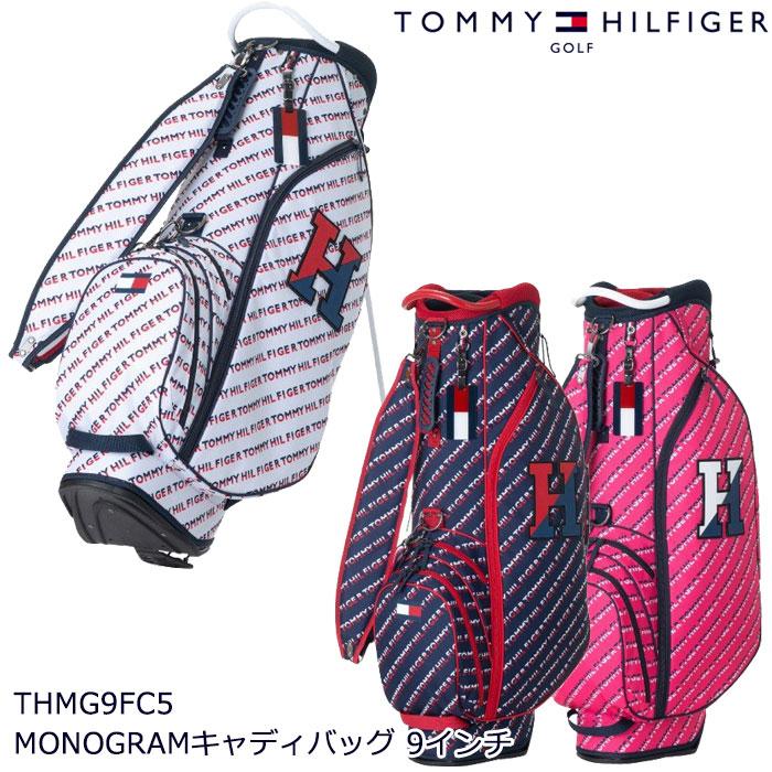 2019年 ゴルフバッグ トミーヒルフィガー TOMMY HILFIGER THMG9FC5 MONOGRAM CB キャディバッグ 9インチ
