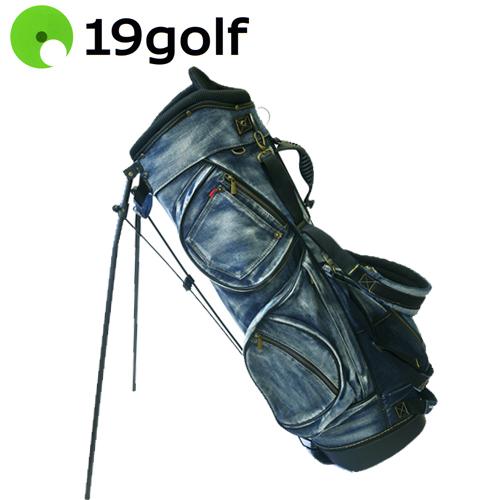 【送料無料(一部地域除く)】 19ゴルフ デニム キャディバッグ 色落ち加工 8.5型 CBIOI20 19golf