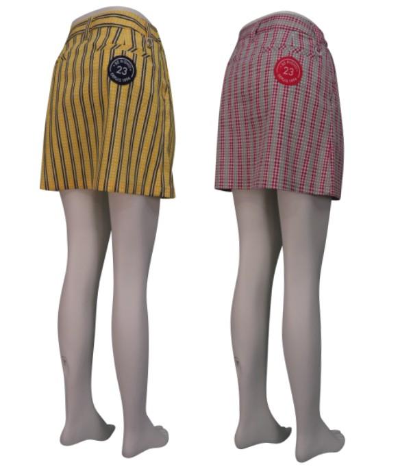 【New】◆◇◆プレミアムコレクション◆◇◆ONWARD(オンワード)23区GOLF レディース【ストレッチ】タッターソールチェックプリント スカート【SKVLKM-0208】
