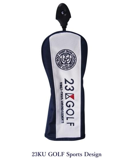 【PREMIUM SALE】23区ゴルフキャットハンドモデル フェアウェイ用ヘッドカバー【ZZ1PKW-0841 ホワイト/ネイビー】【GOLFLINE】【CSPT】by ONWARD KASHIYAMA