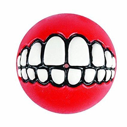 ヨーロッパやアメリカで大人気 ROGZ ログズ GRINZ BALL 超安い Mサイズ 犬用おもちゃ 以上送料無料 笑顔 歯 税抜 売り出し トリートボール ボール5000円