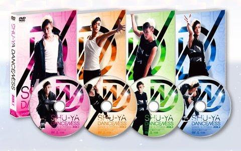 【SALE】有名ダンサー/SHU-YA DANCENESS  DVD4枚組【メール便、定形外郵便対応】